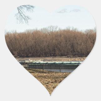 Adesivo Coração Vida do rio