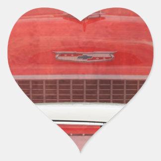 Adesivo Coração Vintage branco vermelho de Dodge do Bel Air