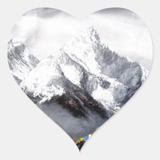 Adesivo Coração Vista panorâmica da montanha de Everest