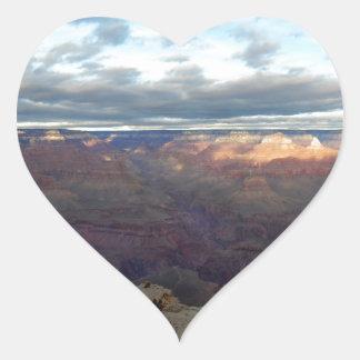 Adesivo Coração Vista panorâmica do Grand Canyon