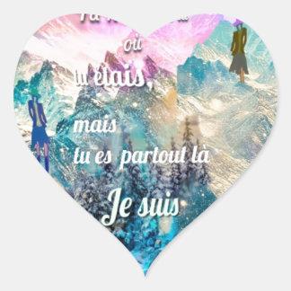 Adesivo Coração Você é em toda parte mim está