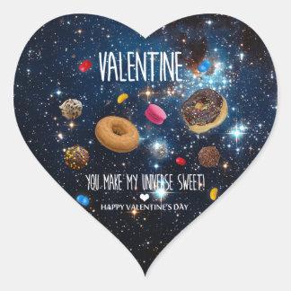 Adesivo Coração Você faz meus namorados do doce do universo!