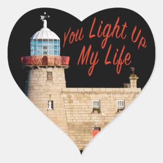 Adesivo Coração Você ilumina acima minha vida