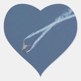 Adesivo Coração Vôo 1 do tufão de Eurofighter