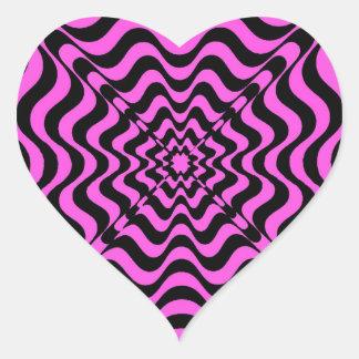 Adesivo Coração Vortex cor-de-rosa