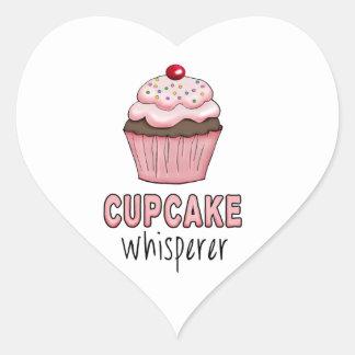 Adesivo Coração Whisperer do cupcake