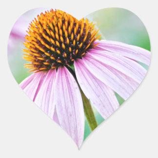 Adesivo Coração Wildflowers roxos