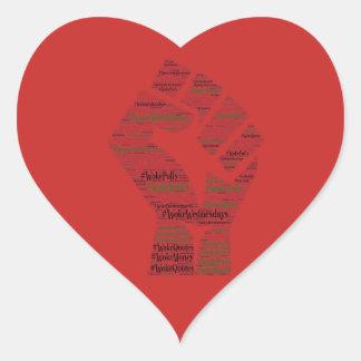 Adesivo Coração #WokeWednesdays