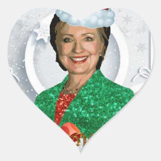 Adesivo Coração xmas Hillary clinton da feliz