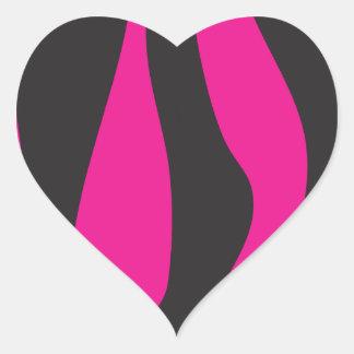 Adesivo Coração Zebra cor-de-rosa