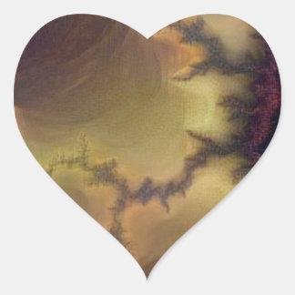 Adesivo Coração Zumbido de da Vinci Mandelbrot