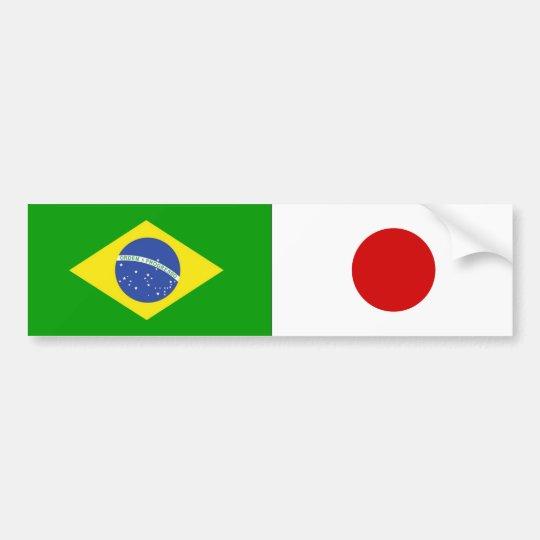 ADESIVO DE CARRO BANDEIRAS BRASIL e JAPÃO