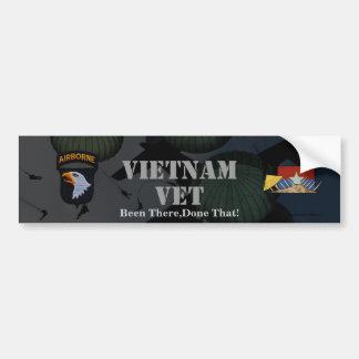 Adesivo De Para-choque 101st autocolante no vidro traseiro de Vietnam da