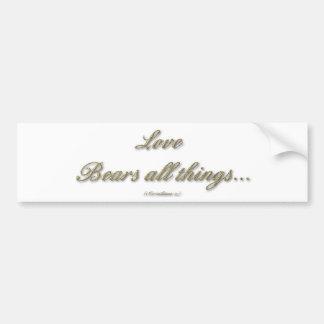 Adesivo De Para-choque 1 Corinthians 13 - o amor carrega todas as coisas