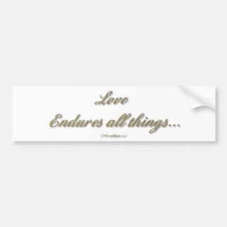 Adesivo De Para-choque 1 Corinthians 13 - o amor resiste todas as coisas