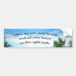 Adesivo De Para-choque 23:19 dos provérbio