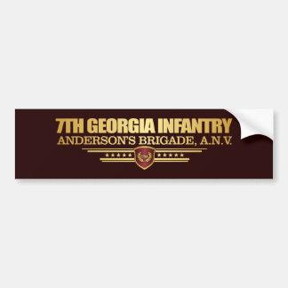 Adesivo De Para-choque 7o Infantaria de Geórgia (1)