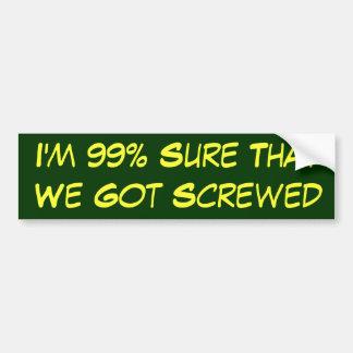 Adesivo De Para-choque 99% certo nós obtivemos parafusados