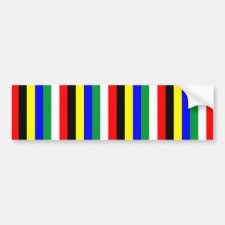 Adesivo De Para-choque A bandeira de África do Sul listra linhas símbolo