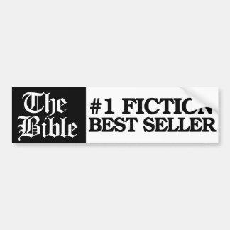 Adesivo De Para-choque A bíblia é vendedor da ficção do número um um