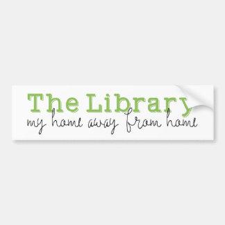 Adesivo De Para-choque A biblioteca: Minha casa afastada