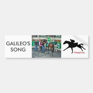 Adesivo De Para-choque A canção de Galileo