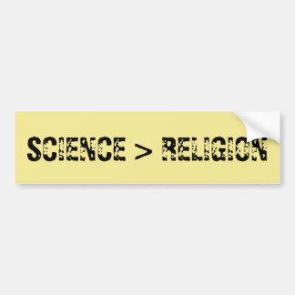 Adesivo De Para-choque A ciência é maior do que a religião