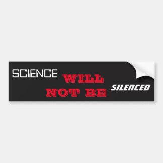 Adesivo De Para-choque A ciência não será silenciada