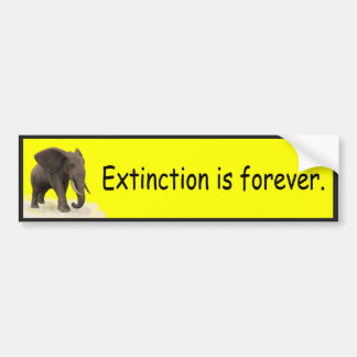 Adesivo De Para-choque A extinção é para sempre - autocolante no vidro