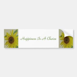 Adesivo De Para-choque A felicidade é um girassol bem escolhido