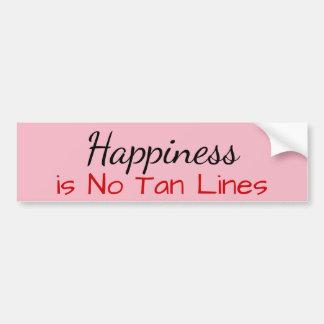 Adesivo De Para-choque A felicidade não é nenhuma linha de Tan