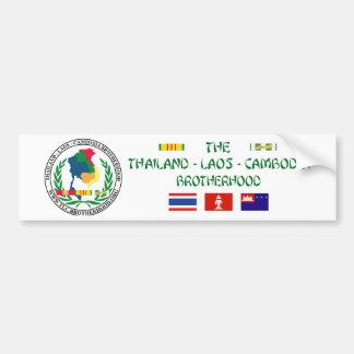 Adesivo De Para-choque A fraternidade de Tailândia-Laos-Cambodia