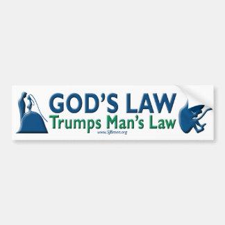 Adesivo De Para-choque A lei do homem dos trunfos da lei do deus