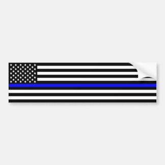 Adesivo De Para-choque A linha azul fina polícia apoia