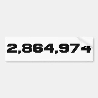 Adesivo De Para-choque A margem de Hillary Clinton de vitória: 2.864.974