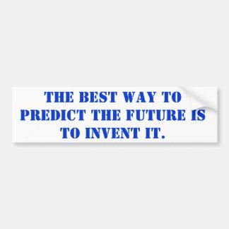 Adesivo De Para-choque a melhor maneira de prever o futuro é inventá-la