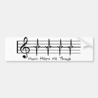 Adesivo De Para-choque A música ajuda-me completamente