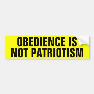 Adesivo De Para-choque A obediência não é patriotismo