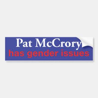 Adesivo De Para-choque A pancadinha McCrory tem edições de género