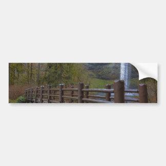 Adesivo De Para-choque A ponte de madeira na prata cai parque estadual