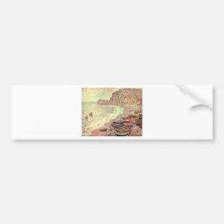 Adesivo De Para-choque A praia em Etretat - Claude Monet