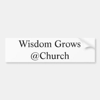 Adesivo De Para-choque A sabedoria cresce o @Church