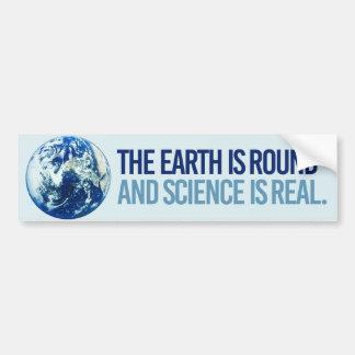 Adesivo De Para-choque A terra é circularmente e a ciência é real -