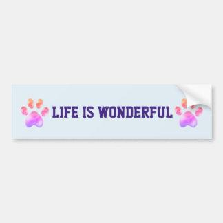 Adesivo De Para-choque A vida é patas maravilhosas