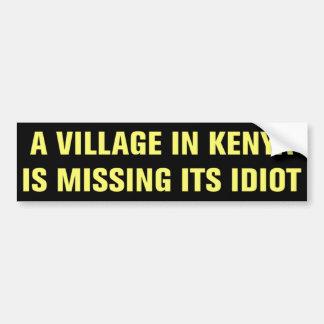 Adesivo De Para-choque A vila em Kenya está faltando sua etiqueta do