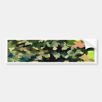 Adesivo De Para-choque Abstrato da folha no verde, no pêssego e no azul