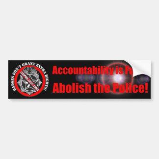 Adesivo De Para-choque Abula o autocolante no vidro traseiro da polícia