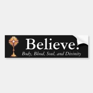 Adesivo De Para-choque Acredite no Eucaristia