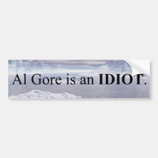 Adesivo De Para-choque Al Gore é um idiota