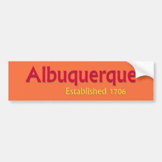 Adesivo De Para-choque Albuquerque estabeleceu o autocolante no vidro